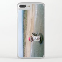 Talacre aerial 3 Clear iPhone Case