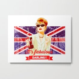 Patsy Stone AbFab absolutely Fabulous Metal Print