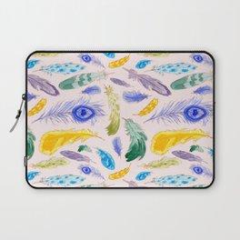 Jewel Tone Feathers Laptop Sleeve