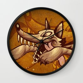 Run Like The Wolf Wall Clock