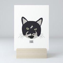 Family Cat Portraits, Buri Mini Art Print