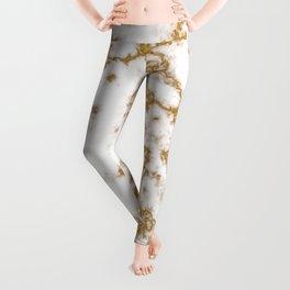 Luxury Gold Marble Leggings