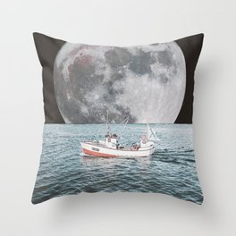 NEXT STOP MOON Throw Pillow