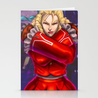 street fighter Stationery Cards featuring Karin Street Fighter V by Darrold Hansen