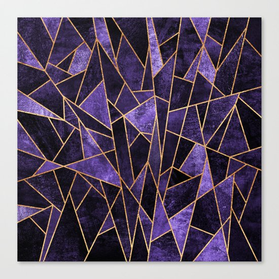 Shattered Amethyst Canvas Print