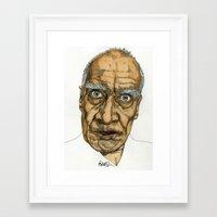 allyson johnson Framed Art Prints featuring Wilko Johnson by Paul Nelson-Esch Art