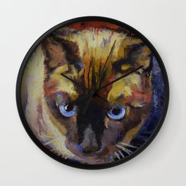 Seal Point Siamese Wall Clock