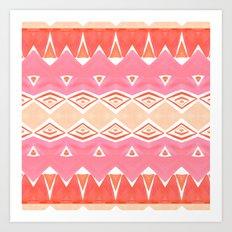 Geo Triangle Peach 2 Art Print