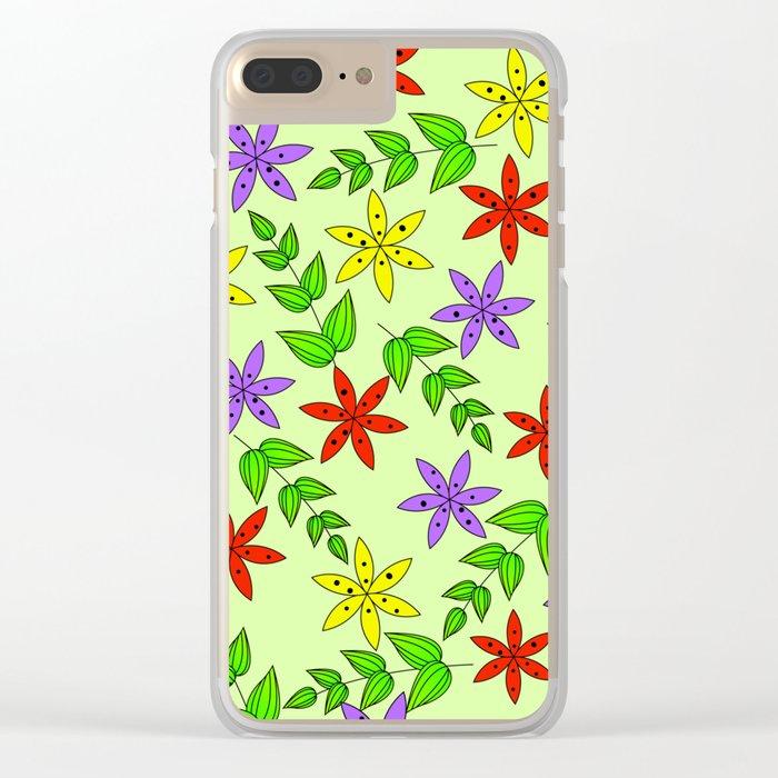 Pattern Q Clear iPhone Case