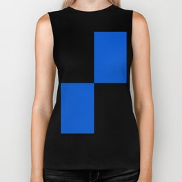 Big mosaic blue black Biker Tank