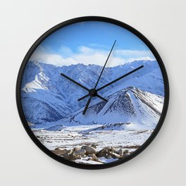 Beautiful Winter Season Landscape Wall Clock