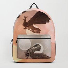 Great Blue Heron Hunter Reflection Backpack