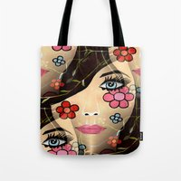 blossom Tote Bags featuring Blossom by Sartoris ART