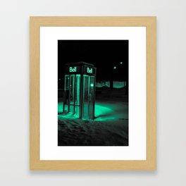 Cold Call Framed Art Print