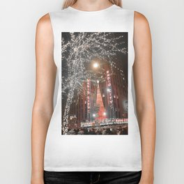 Santa Claus is coming to NYC Biker Tank