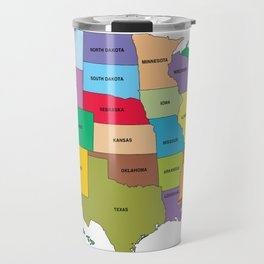 Map of the US states Travel Mug