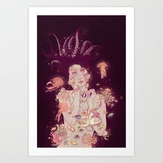 Abyss Lady Art Print