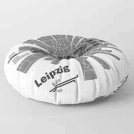 Leipzig Map Floor Pillow