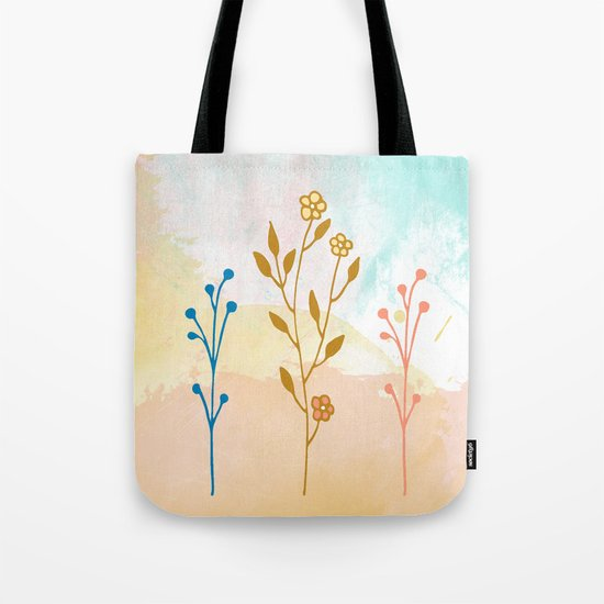 Acuarela flower Tote Bag