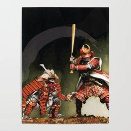 Samurai Warriors Baseball Furies Poster