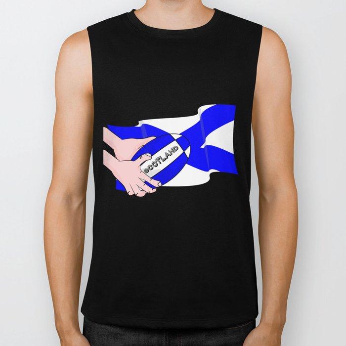 Rugby Scotland Flag Biker Tank