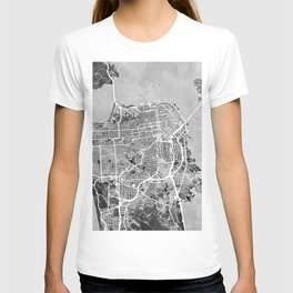 San Francisco City Street Map T-shirt