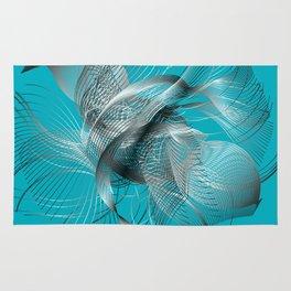 Abstract Fish Rug