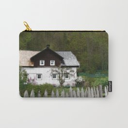 Vine Covered Cottage with Rustic Wooden Picket Fence Carry-All Pouch