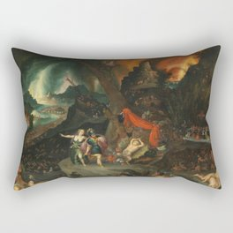 aeneas and the sibyl in the eye's underworld Rectangular Pillow