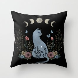 Cat on the Hill Throw Pillow