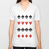 suits V-neck T-shirts featuring Suits by doodletome