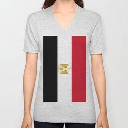 Flag of Egypt Unisex V-Neck