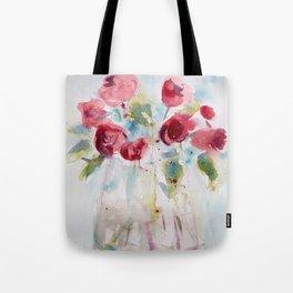 Roses (watercolor and ink) Tote Bag