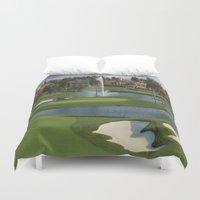 golf Duvet Covers featuring GOLF COURSE by aztosaha