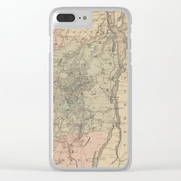 Vintage Map of The Adirondack Mountains (1879) Clear iPhone Case