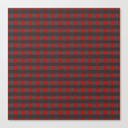 Antiallergenic Hand Knitted Red Grid Winter Wool Pattern - Mix & Match with Simplicty of life Canvas Print