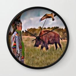 Native Lands Wall Clock