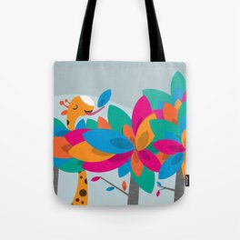 Orange and Trees Tote Bag