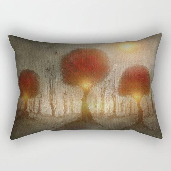 Red Trees Rectangular Pillow
