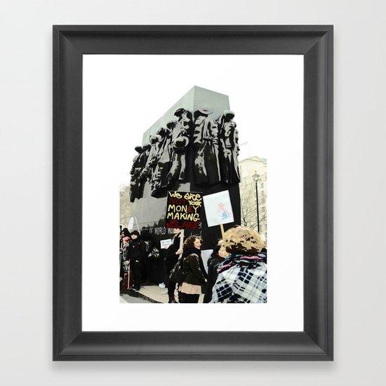 REMEMBERANCE DAY Framed Art Print
