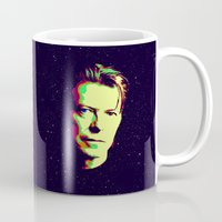 david bowie Mugs featuring Bowie by victorygarlic