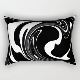 Modern Black and White Abstraction Rectangular Pillow
