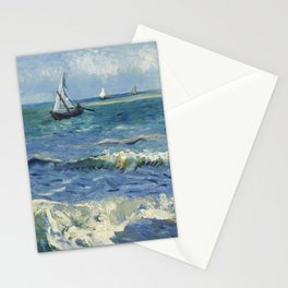 Vincent Van Gogh - Seascape at Saintes-Maries, 1888 Stationery Cards