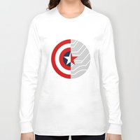 bucky Long Sleeve T-shirts featuring Cap-Bucky design by Superhuman Disasters