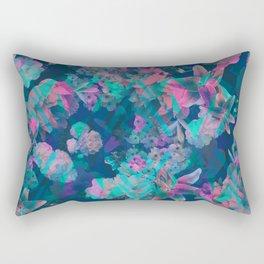 Geometric Floral Rectangular Pillow