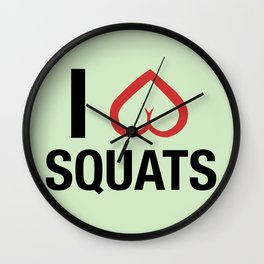 Squat Love Wall Clock