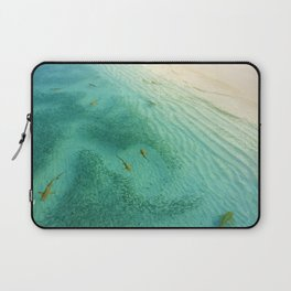 Sharks and Fish Beach (Color) Laptop Sleeve