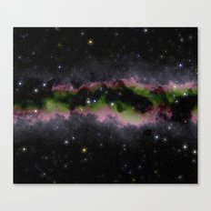 Pink and Green Stardust Canvas Print