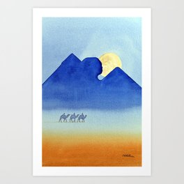 Giza By Moonlight Art Print