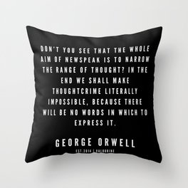 71    | George Orwell Quotes | 190529 | Black Throw Pillow